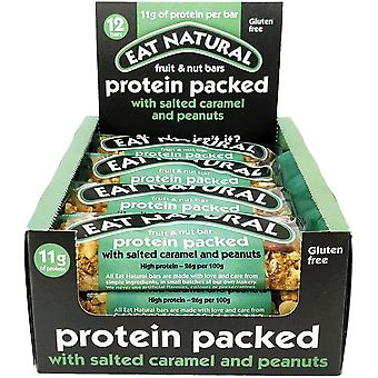 Mangez du caramel salé riche en protéines naturelles 45g x12