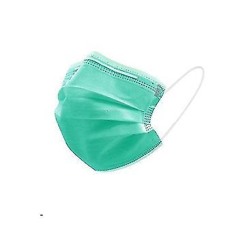 Dust masks 3-layer non woven face masks  anti-dust  disposable 100pcs green