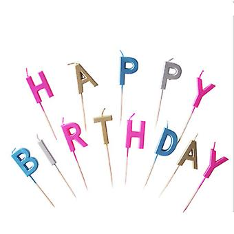 Alphabet Birthday Candles Cake Candles Happy Birthday Letter Candles Color