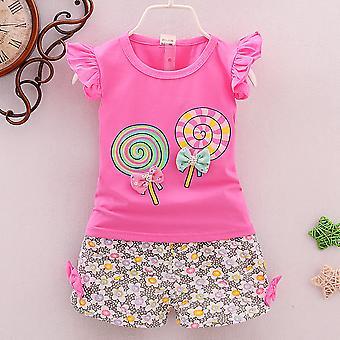 Kisgyermek Baby Kids Girl Outfit póló felsőnadrág nadrág ruha szett