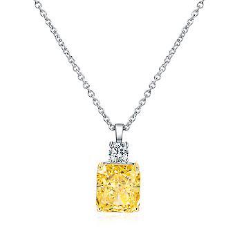 Women's Yellow Zircon Silver Pendant