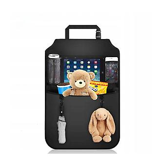 Car Organizer (2 Room), Child Back Seat Storage Bag With Large Transparent Compartment For Ipad, Waterproof Car Seat Protector