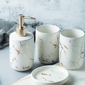 Set van 4-delige badkamer accessoires set van witte modieuze badkamer (