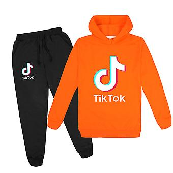 Orangetik Tok Kids Hoodie Pants Suit Girls Long Sleeve Tracksuit Sportswear Sets