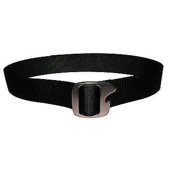 Bison Designs Tap Cap Gunmetal Buckle Bottle Opener Belt - Black