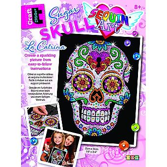 Sequin Art Sugar Skull Sequin Art