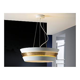 Schuller Modern White Dish LED Ceiling Pendant 6 Light