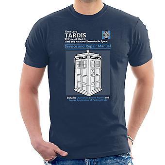 Doctor Who Tardis Service en reparatie handleiding T-Shirt voor mannen