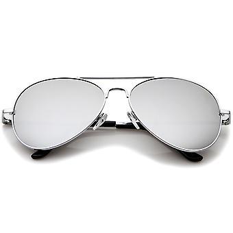 クラシック メタル フレームばね蝶番色ミラー レンズ サングラス 56 mm
