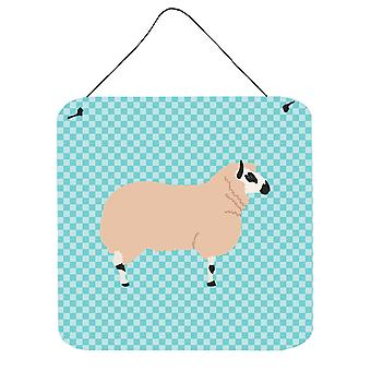 Kerry Hill Sheep Blue Check Wall or Door Hanging Prints