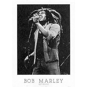 בוב מארלי פוסטר הדפסה על ידי קואו הסיין (20 x 28)