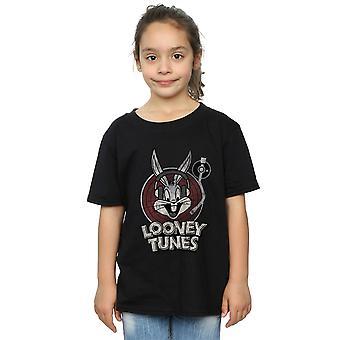 لوني تونز الفتيات البق الأرنب دائرة شعار تي شيرت