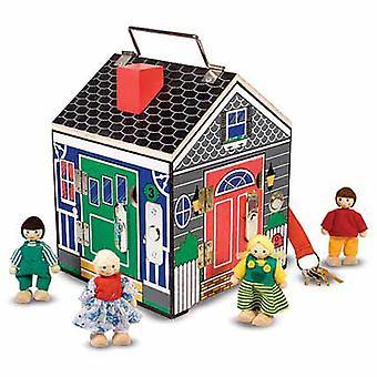 Melissa & Doug trä dörrklockan House