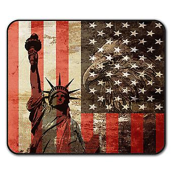 New York Flag Freedom  Non-Slip Mouse Mat Pad 24cm x 20cm | Wellcoda