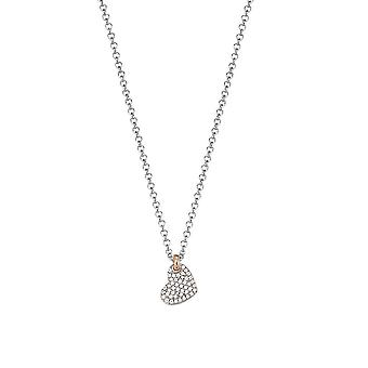 ESPRIT women's chain necklace silver cubic zirconia love swing Petite ESNL92939A420