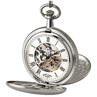 Rotary Gent's Stainless Steel Skeleton Pocket MP00726/01 Watch