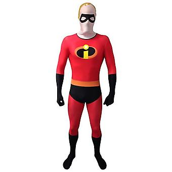 DISNEY Pixar Mr Incredible Adult Unisex Cosplay Costume Morphsuit - Large - Multi-Colour (MLMRICL-L)