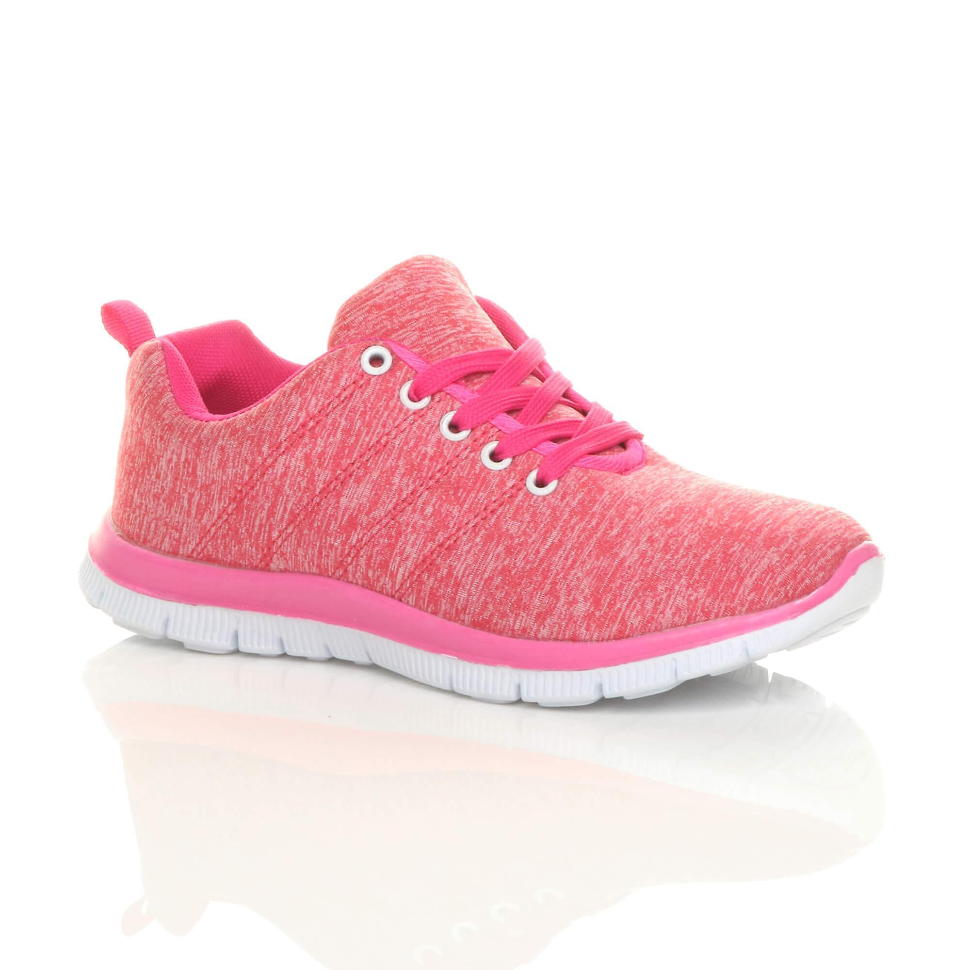 Ajvani womens lace up comfort gym trainers sneakers sport plimsolls DGz4c