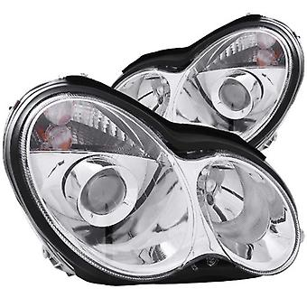 Anzo USA 121080 Mercedes-Benz Projector Chrome Headlight Assembly - (Sold in Pairs)