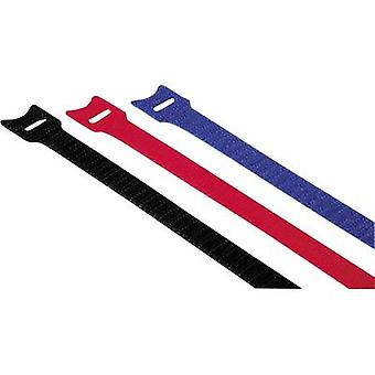 Hama Hook-and-loop cable tie Plastic Red, Blue, Black Flexible (L x W) 14.5 cm x 1.2 cm 12 pc(s) 00020536