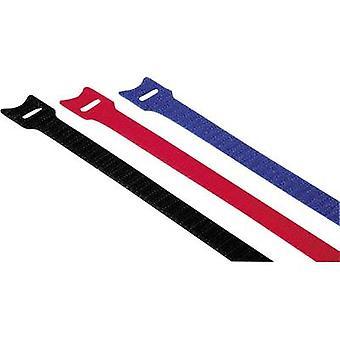 Hama Hook-and-loop fascetta ferma-cavo in fibra sintetica rosso, blu, nero flessibile (L x L) 20 x 1,2 cm 12/PC 00020537