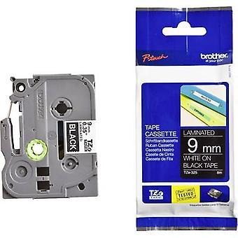 Labelling tape Brother TZe, TZ TZe-325 Tape colour: Black Font colour:White 9 mm 8 m