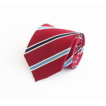 Tie stropdas tie stropdas 8cm rood blauw Fabio Farini wit gestreept