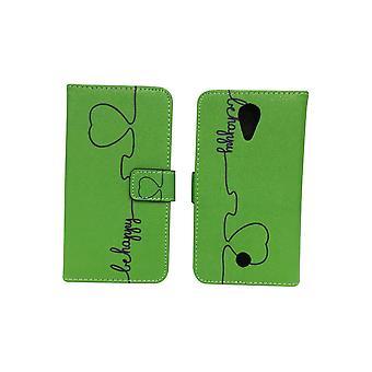 Mobile phone case pochette pour mobile WIKO U se sentent être heureux vert
