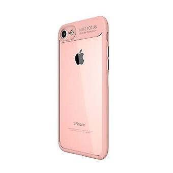 Stuff Certified® iPhone 7 - Auto Focus Armor Case Cover Cas Silicone TPU Case Pink