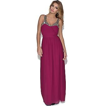 Little Mistress Heavily Embellished Maxi Dress