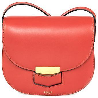 Celine Trotteur lille rød kalveskind læder Crossbody taske