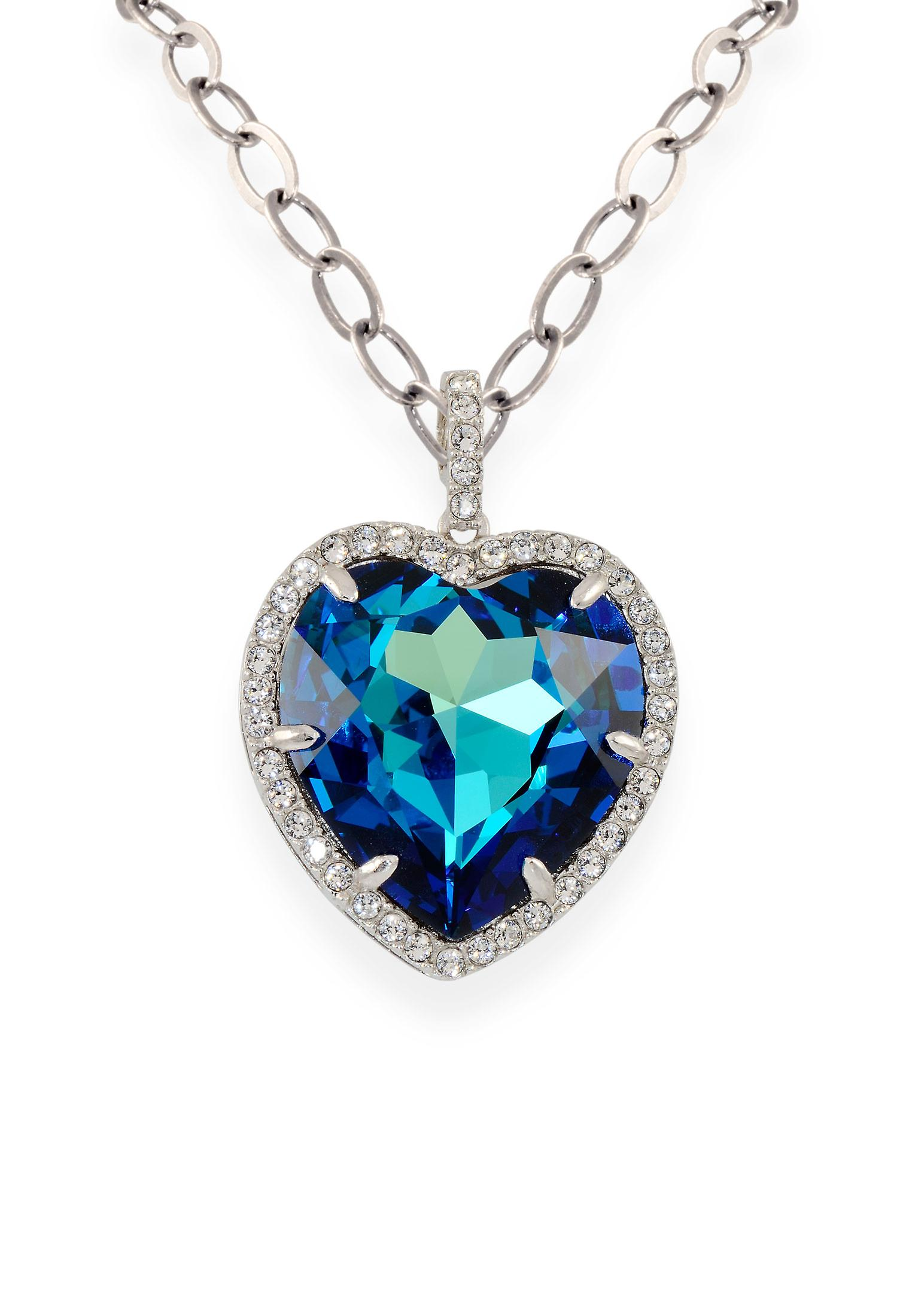Blue pendant with crystals from Swarovski 9140