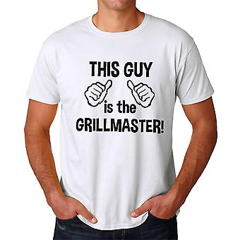 Humor This Guy Is The Grillmaster Graphic Men's White T-shirt