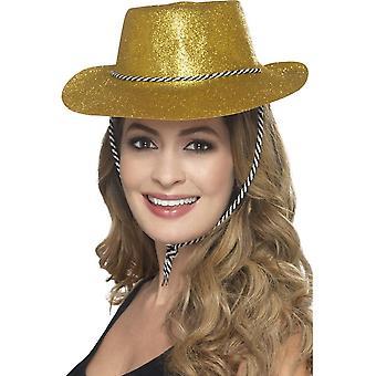 Cowboy Glitter Hat, GOLD