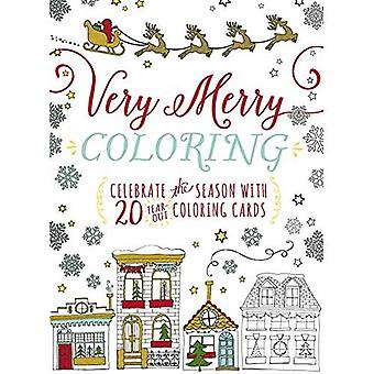 Very Merry Coloring: Celebrate the Seaon with 20 Tear-Out Coloring Cards (Colouring Books)