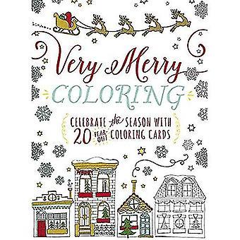 Hyvää väritys: Juhlia Seaon 20 kyynel-Out väritys korteilla (kirjojen)