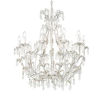 Ideal Lux - Cascina White And Gold Ten Light Chandelier IDL100302