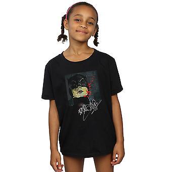 DC Comics Girls Batman TV Dizisi İmza Boyama T-Shirt