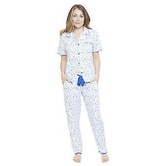 Cyberjammies 4132 vrouw Mia White-Spotted pyjama's Top