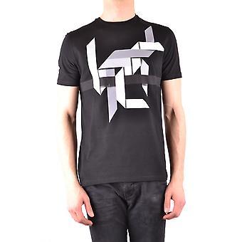 Neil Barrett Ezbc058043 Men's Black Cotton T-shirt