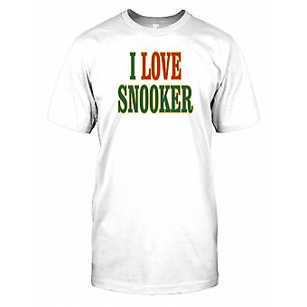 Jeg elsker Snooker Mens T skjorte
