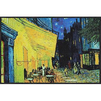 Nuit de paillasson lion salon Café, coureur de Vincent van Gogh porte tapis