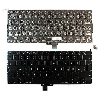 Apple MacBook Pro A1278 13 Zoll Unibody Backlit-Version (ohne Hintergrundbeleuchtung Board) schwarze deutsche Layout Ersatz Laptop-Tastatur