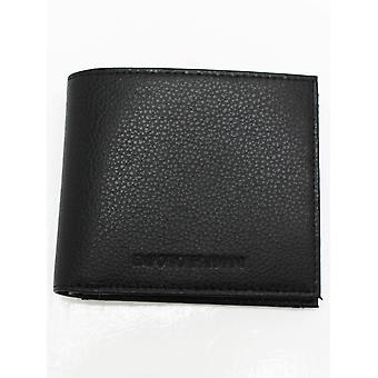 Emporio Armani Bifold W/Coin Embossed Wallet - Black