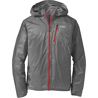 Outdoor Research Helium II Jacket - Pewter/Tomato