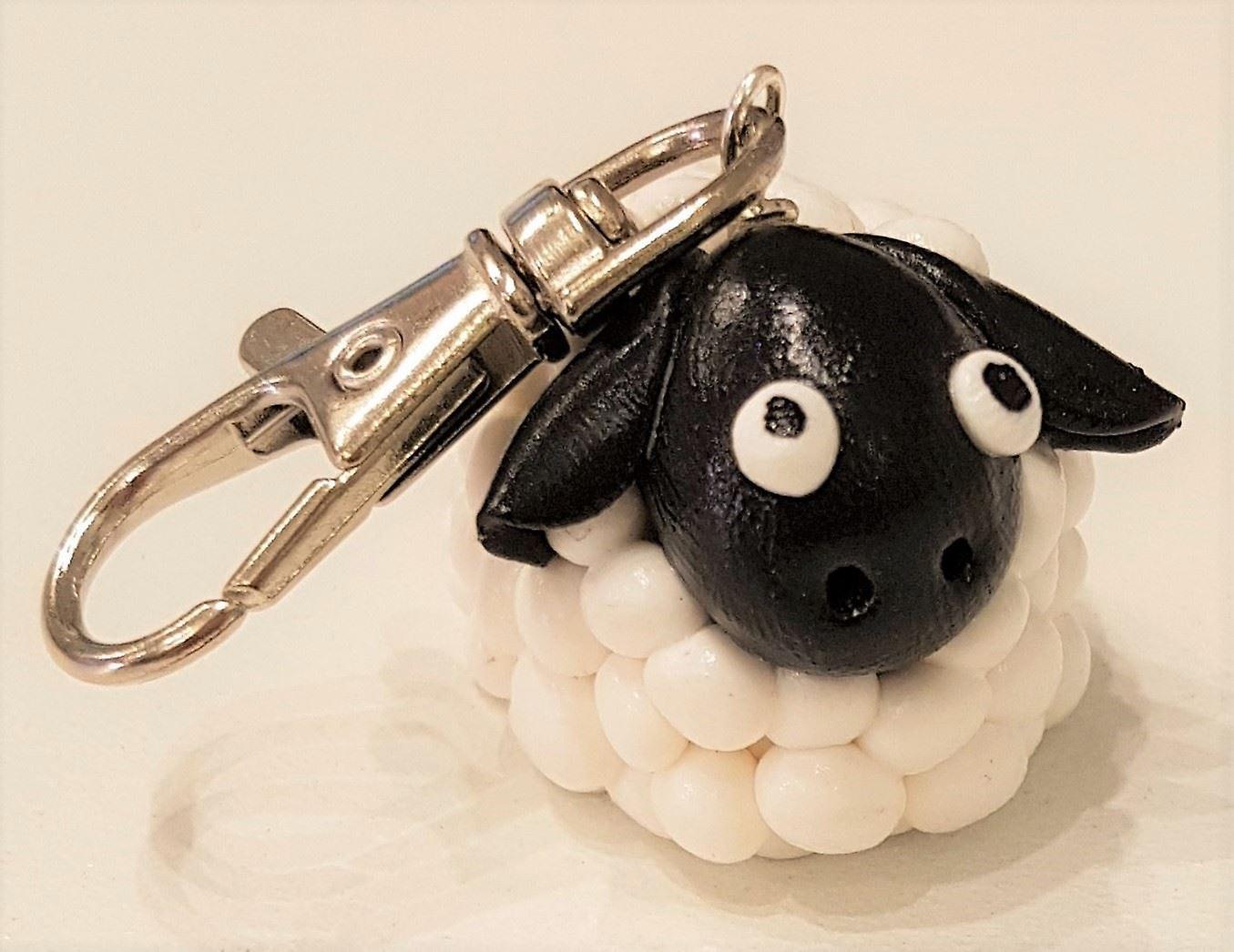 McKayKrafts Polymer Clay Handmade Sheep Keyrings