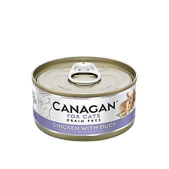 Carruba 75g di pollo con anatra gatto bagnato alimentare può - 75g può