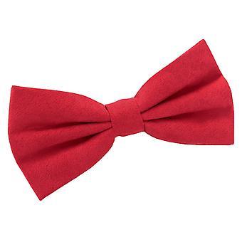 Red Suede Pre-Tied Bow Tie