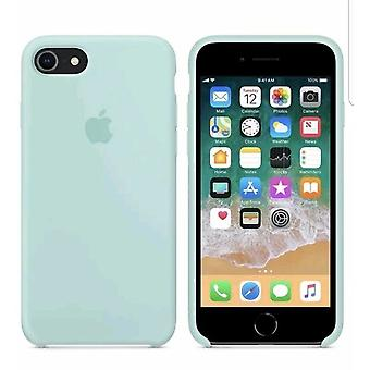 Alkuperäinen pakattu omena silikoni mikrokuitu kansikotelo iPhone 8 / 7 / iPhone SE 2020 - Navy Green