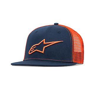 Alpinestars Mens Trucker Snapback Cap ~ Corp navy/orange